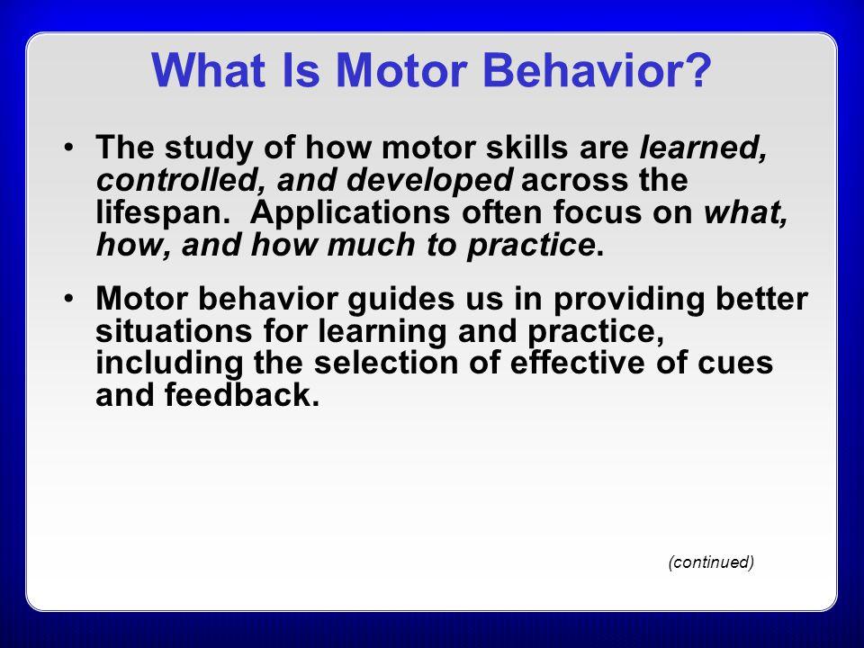 What Is Motor Behavior
