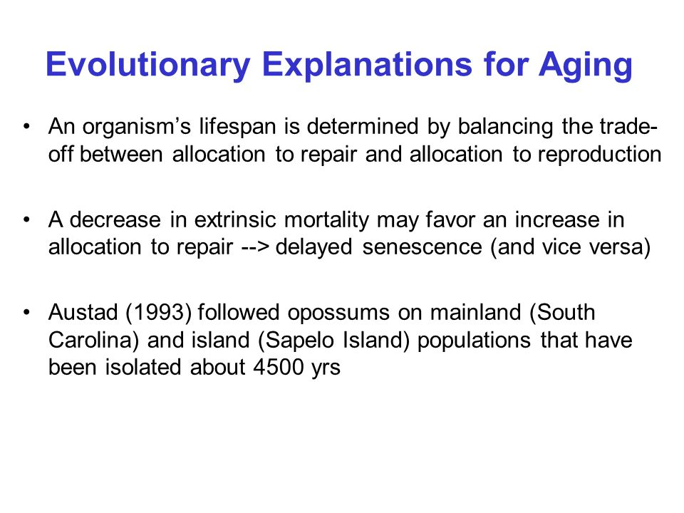 Evolutionary Explanations for Aging