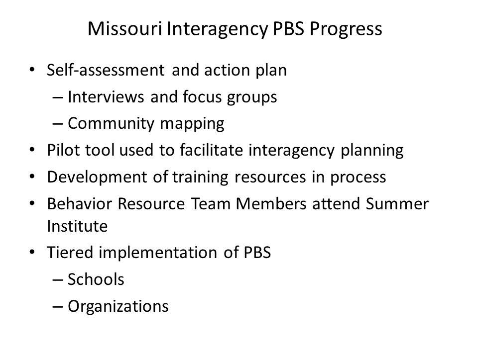 Missouri Interagency PBS Progress