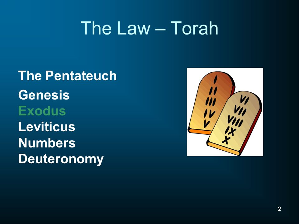 The Law – Torah The Pentateuch
