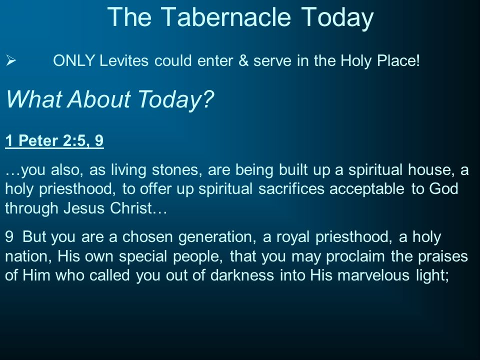 The Tabernacle Today What About Today