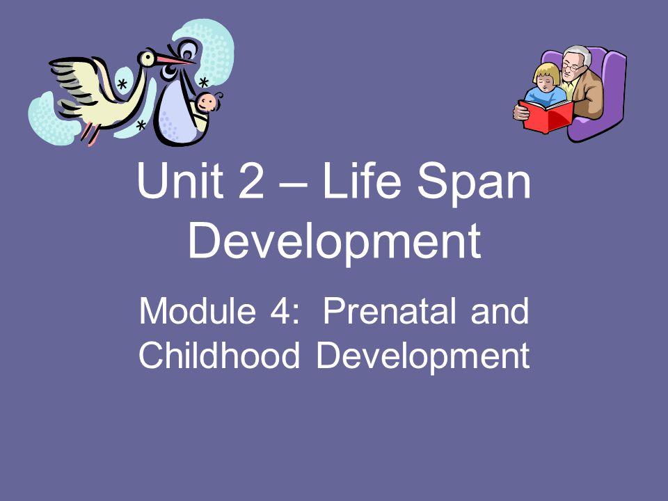 Unit 2 – Life Span Development