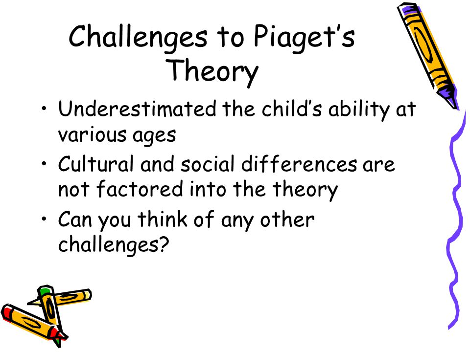 Challenges to Piaget's Theory