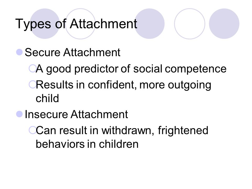Types of Attachment Secure Attachment
