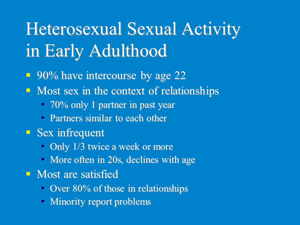 Heterosexual Sexual Activity in Early Adulthood