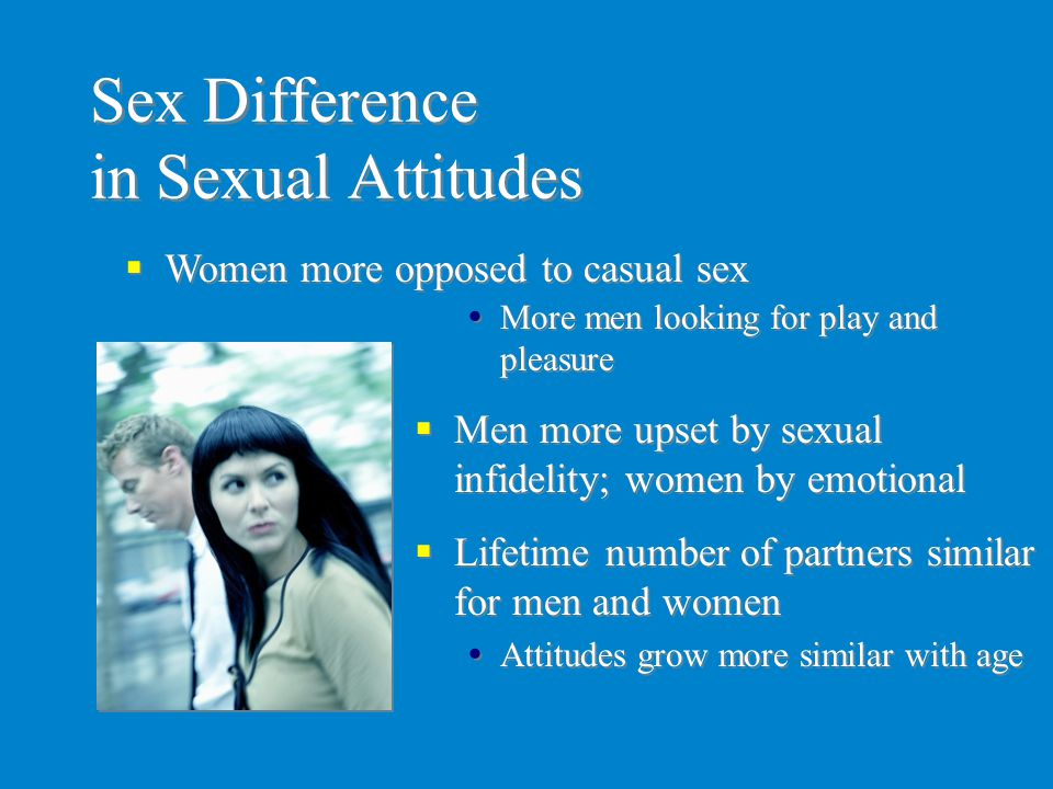 Sex Difference in Sexual Attitudes
