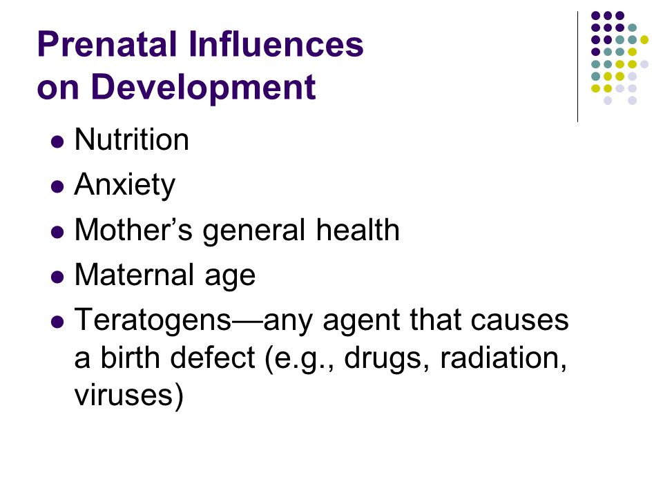 Prenatal Influences on Development