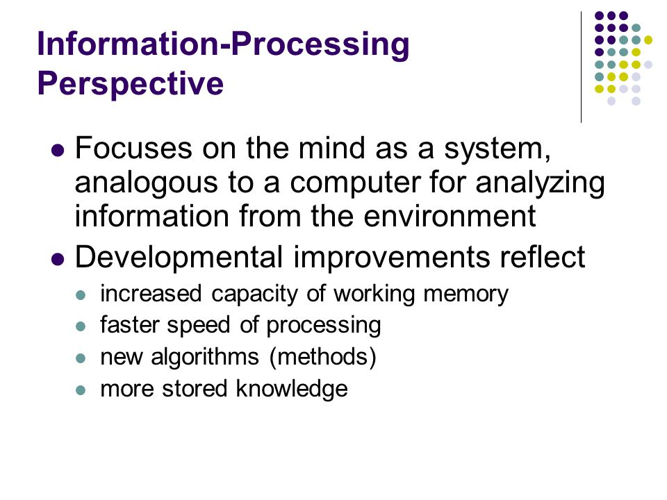 Information-Processing Perspective