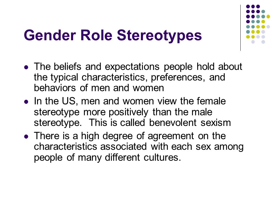 Gender Role Stereotypes
