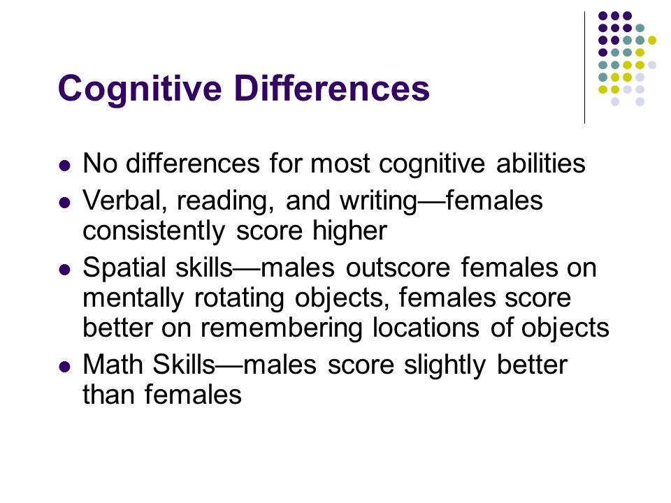 Cognitive Differences