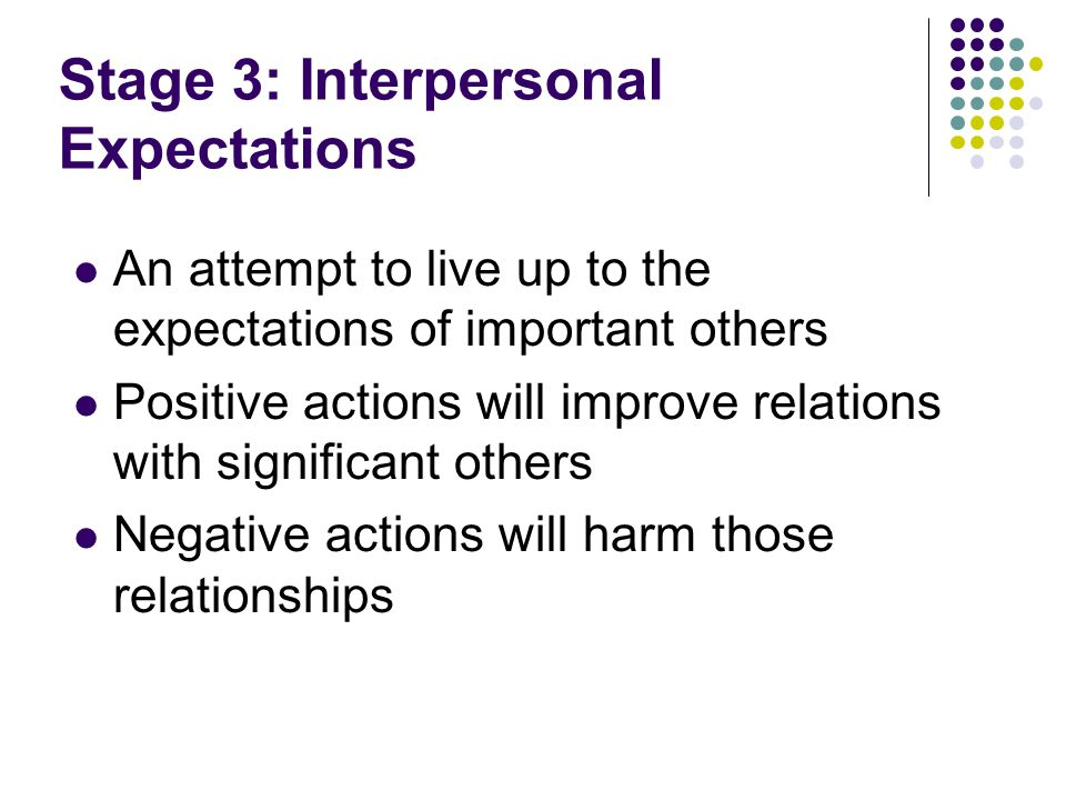 Stage 3: Interpersonal Expectations