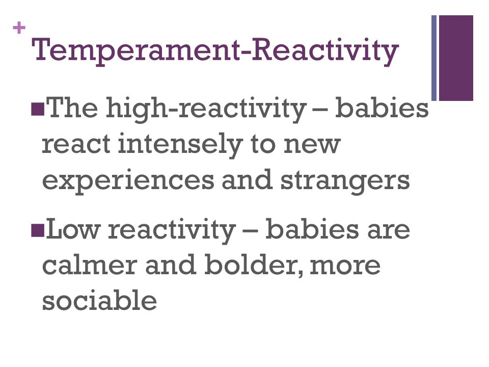 Temperament-Reactivity