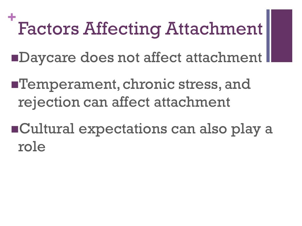 Factors Affecting Attachment