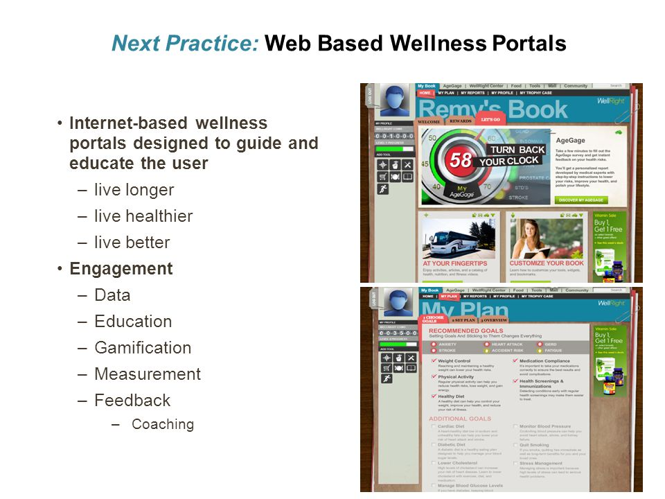 Next Practice: Web Based Wellness Portals