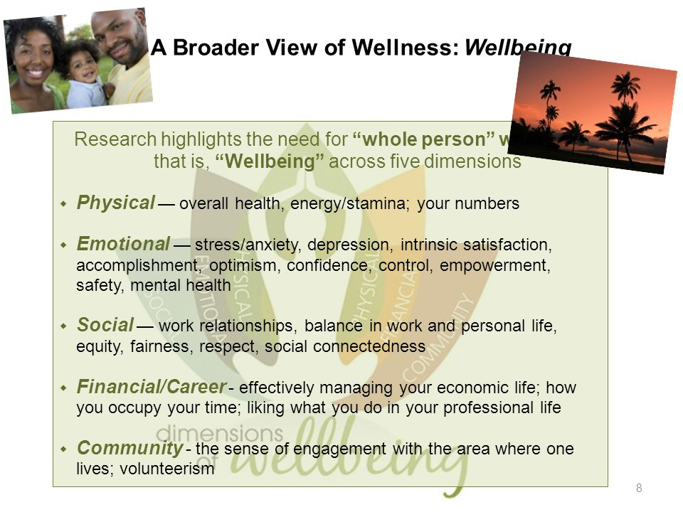 A Broader View of Wellness: Wellbeing