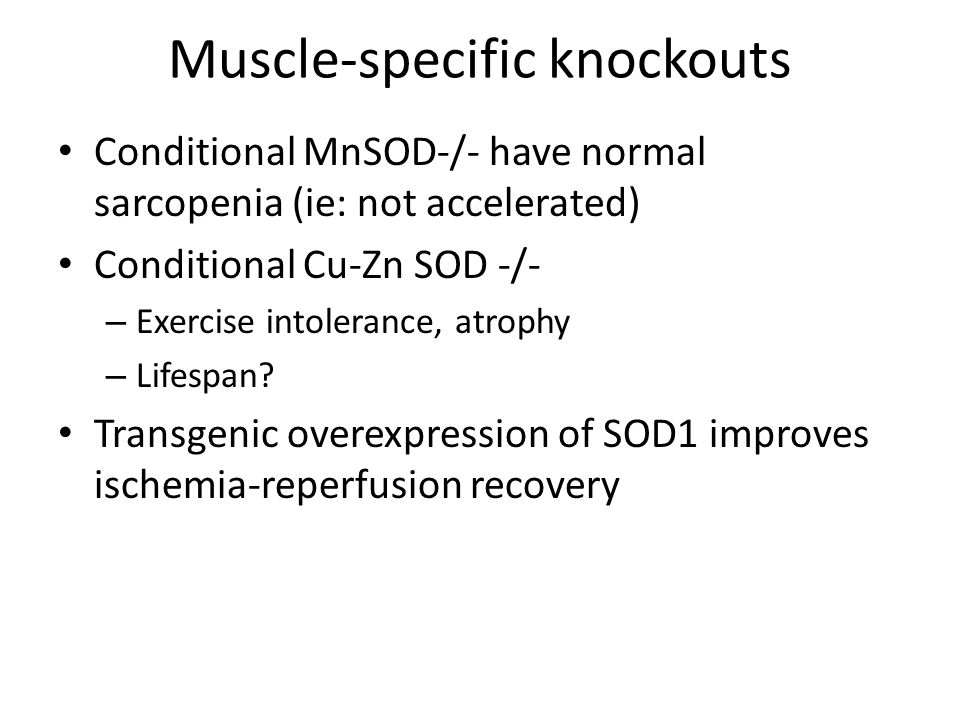 Muscle-specific knockouts