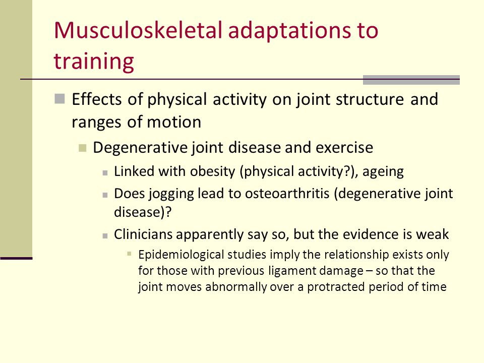 Musculoskeletal adaptations to training