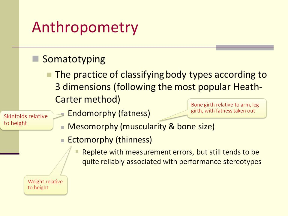 Anthropometry Somatotyping
