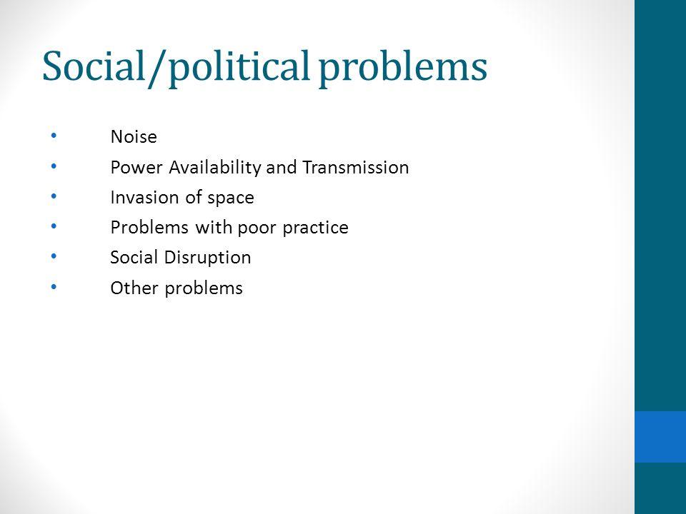 Social/political problems