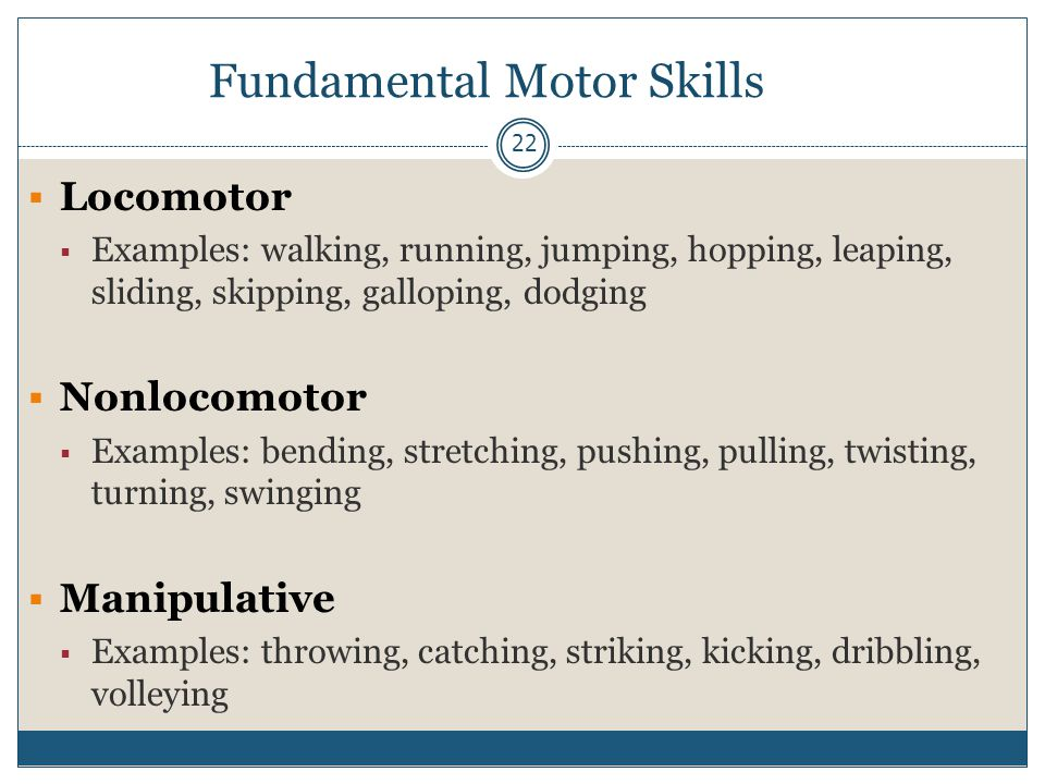 The classification of fundamental movement skills