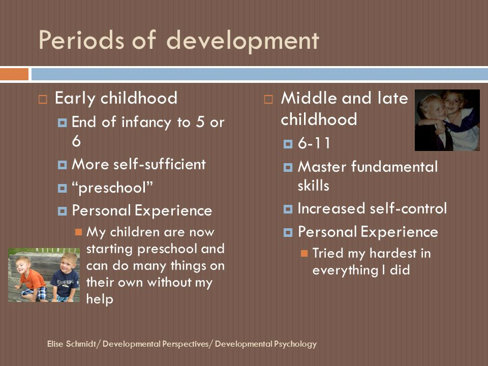 Periods of development