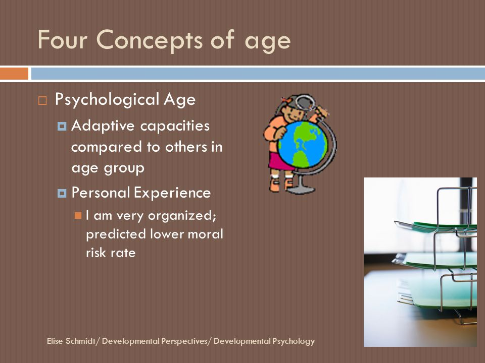 Four Concepts of age Psychological Age