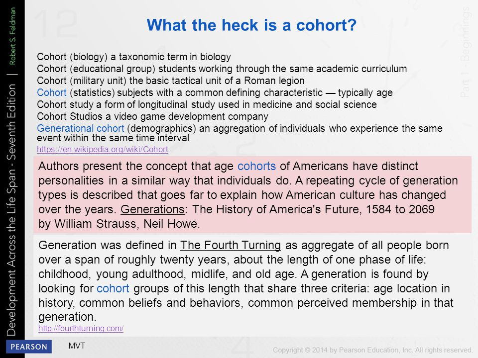 What the heck is a cohort