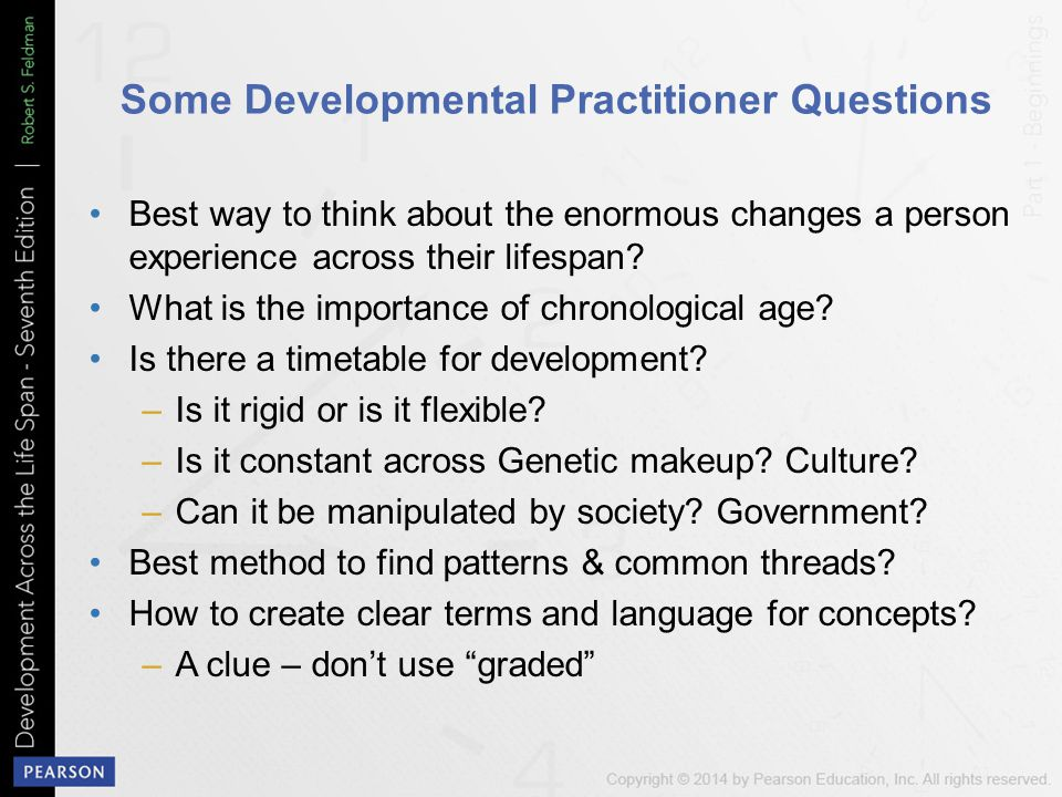 Some Developmental Practitioner Questions