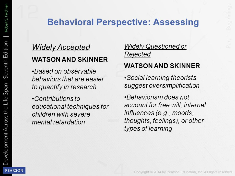 Behavioral Perspective: Assessing