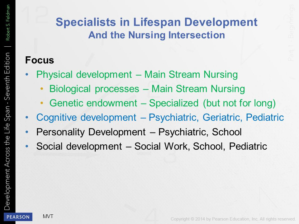 Specialists in Lifespan Development And the Nursing Intersection