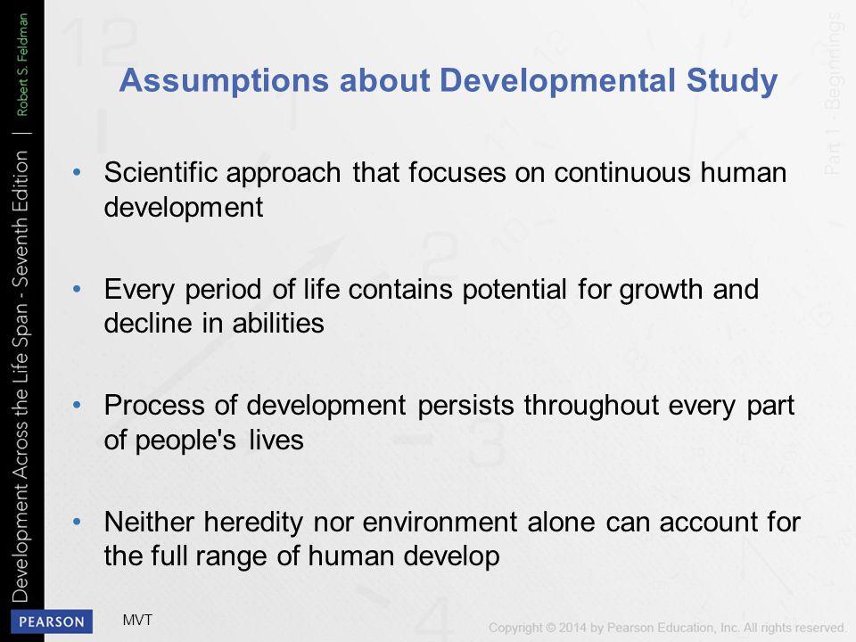 Assumptions about Developmental Study