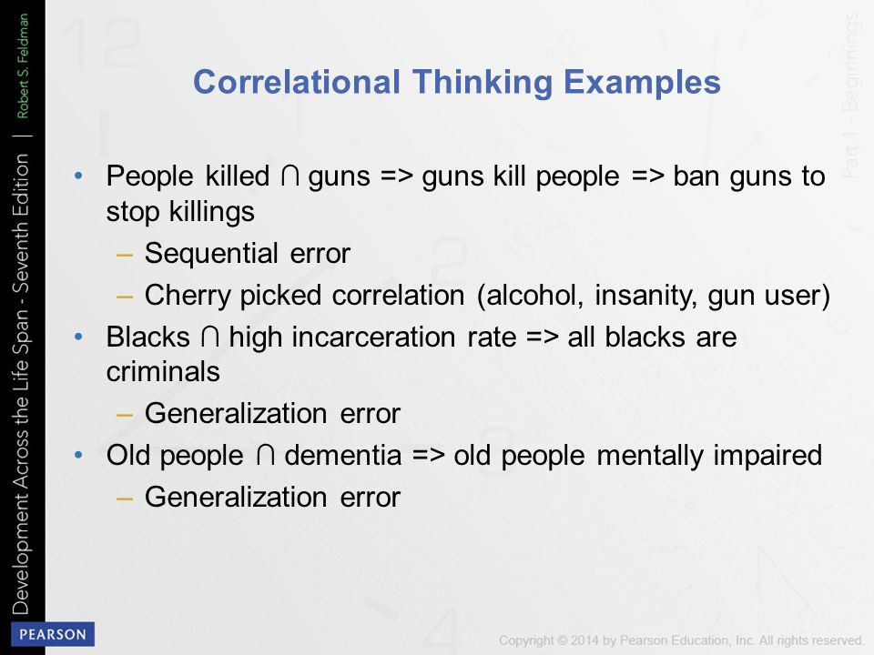 Correlational Thinking Examples