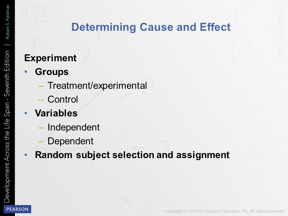 Determining Cause and Effect