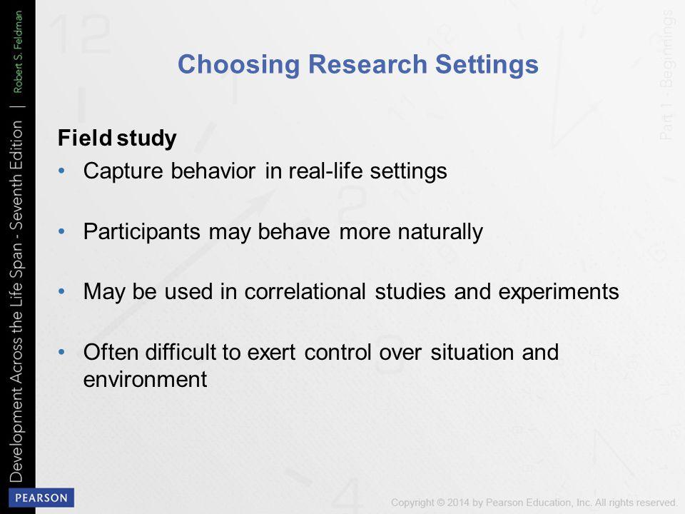 Choosing Research Settings