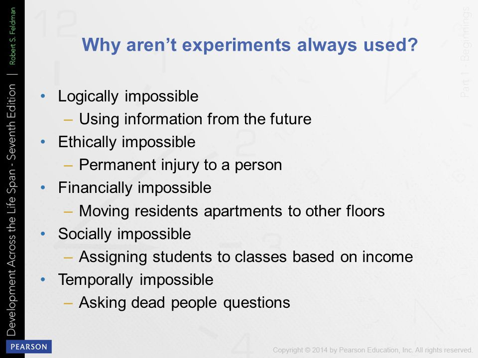 Why aren't experiments always used