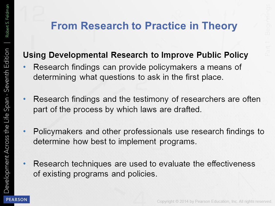 From Research to Practice in Theory