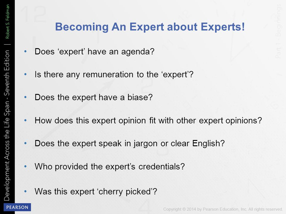 Becoming An Expert about Experts!