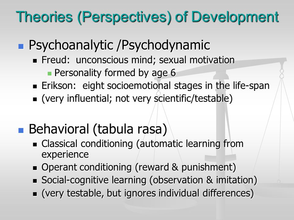 Theories (Perspectives) of Development