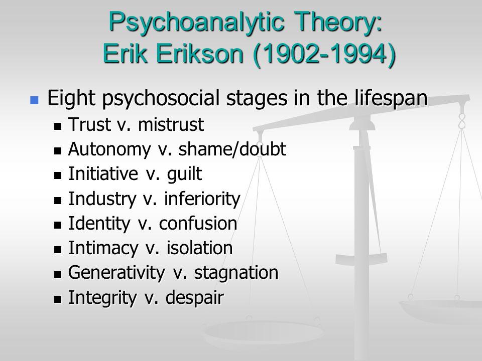 Psychoanalytic Theory: Erik Erikson (1902-1994)