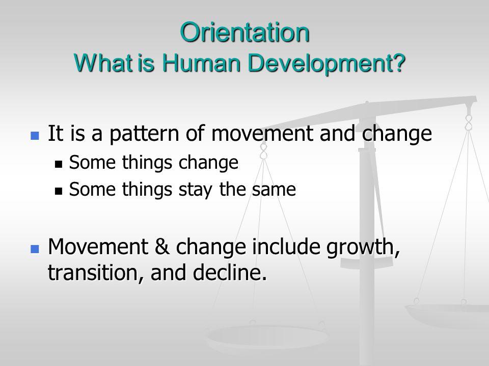 Orientation What is Human Development