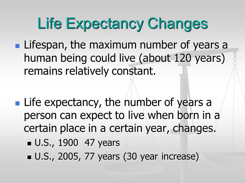 Life Expectancy Changes