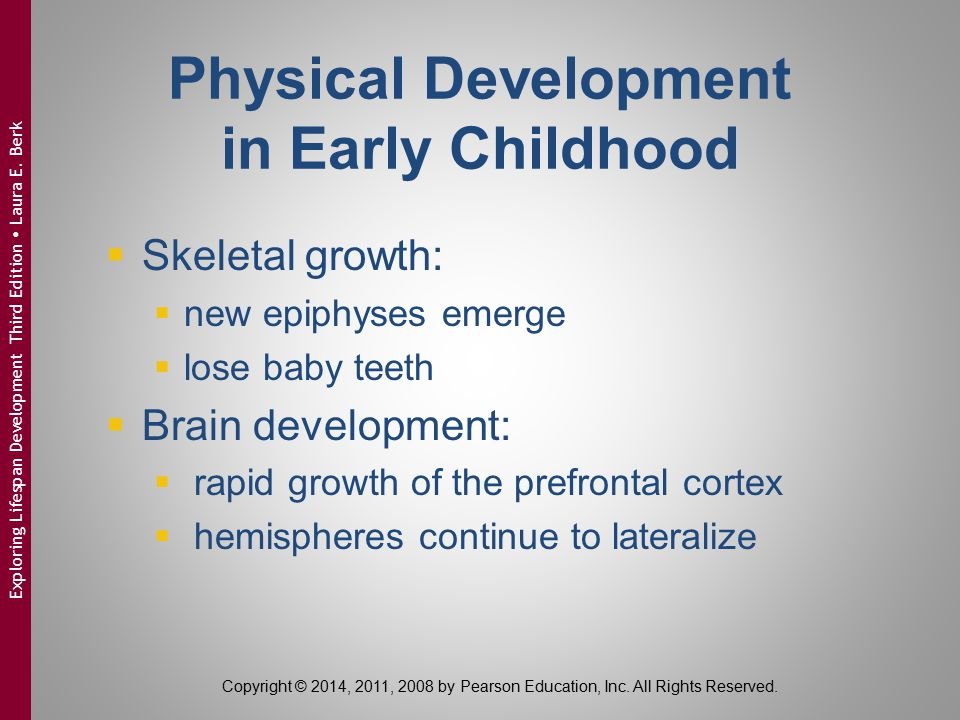 Physical Development in Early Childhood