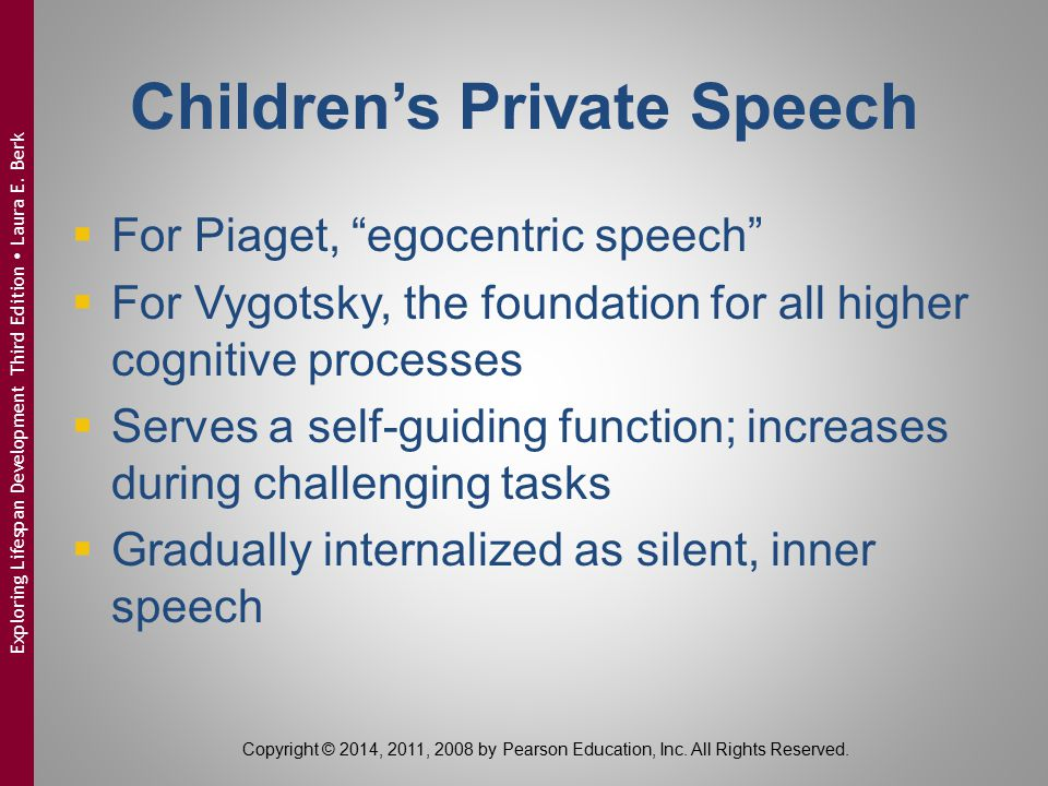 Children's Private Speech