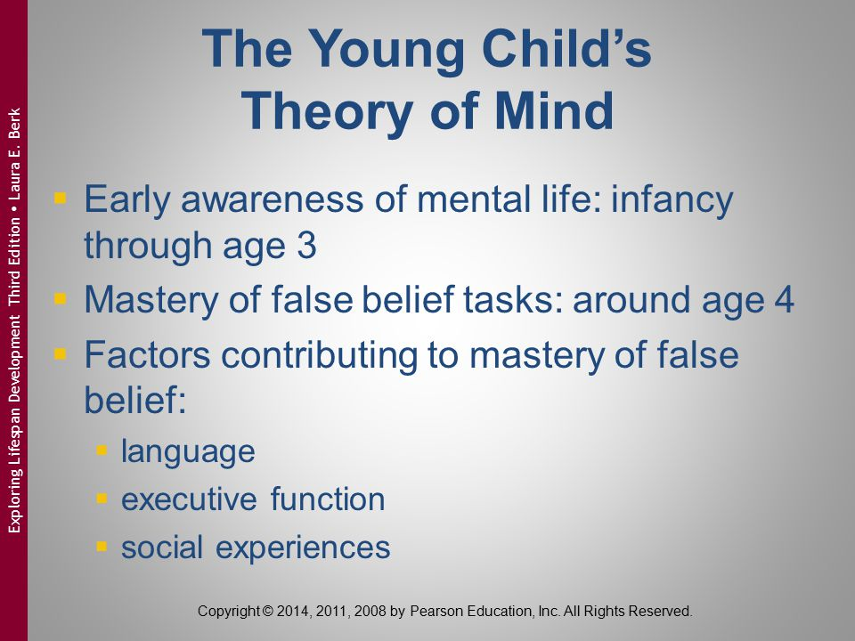 The Young Child's Theory of Mind