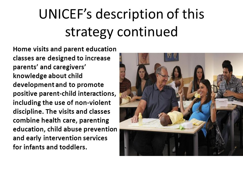 UNICEF's description of this strategy continued