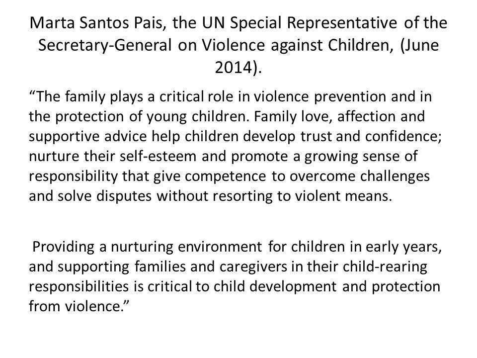 Marta Santos Pais, the UN Special Representative of the Secretary-General on Violence against Children, (June 2014).