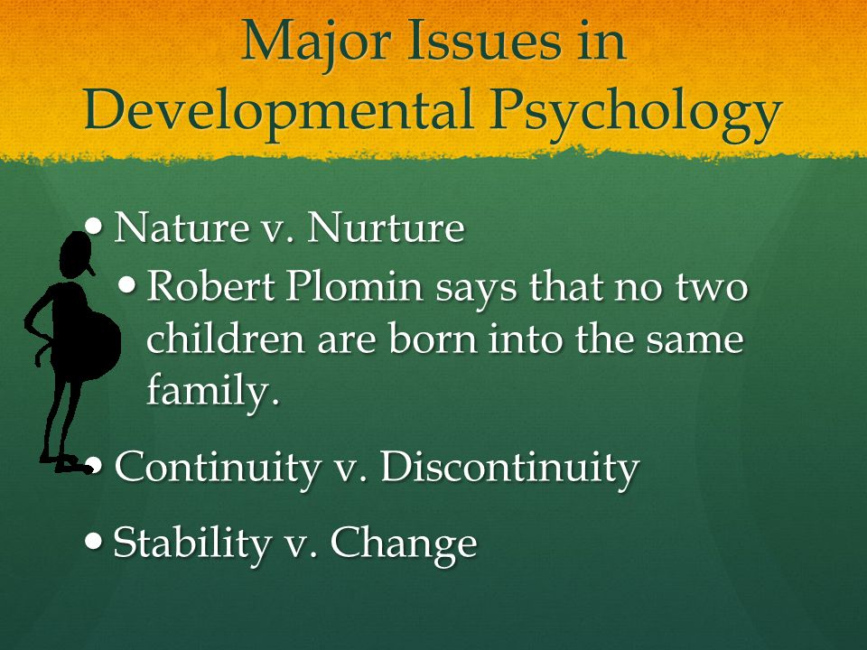 Major Issues in Developmental Psychology