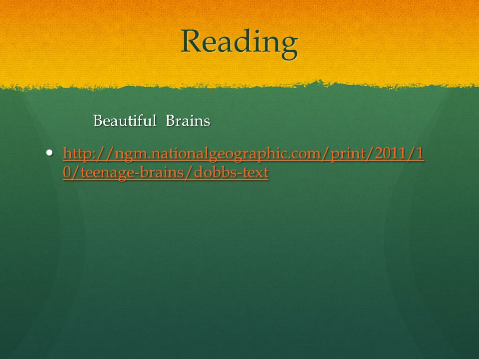 Reading Beautiful Brains