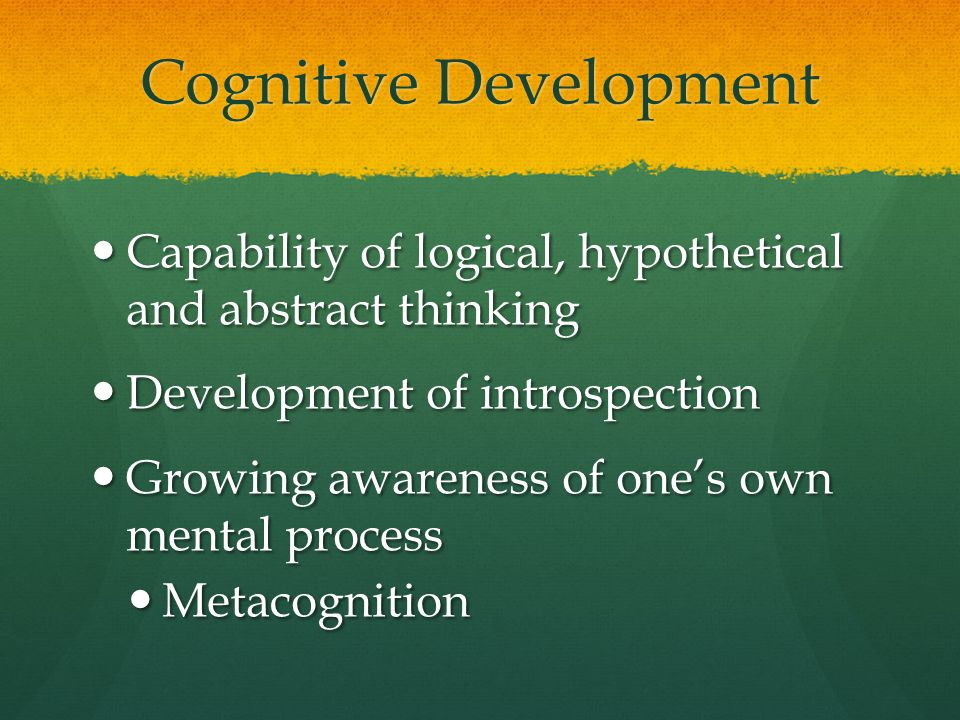 Cognitive Development