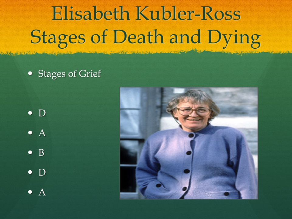Elisabeth Kubler-Ross Stages of Death and Dying